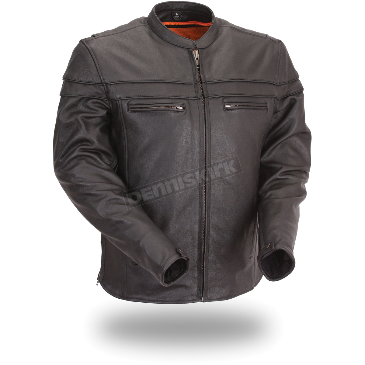 First Mfg Co Womens Speedy Leather Motorcycle Jacket Black XXX-Large