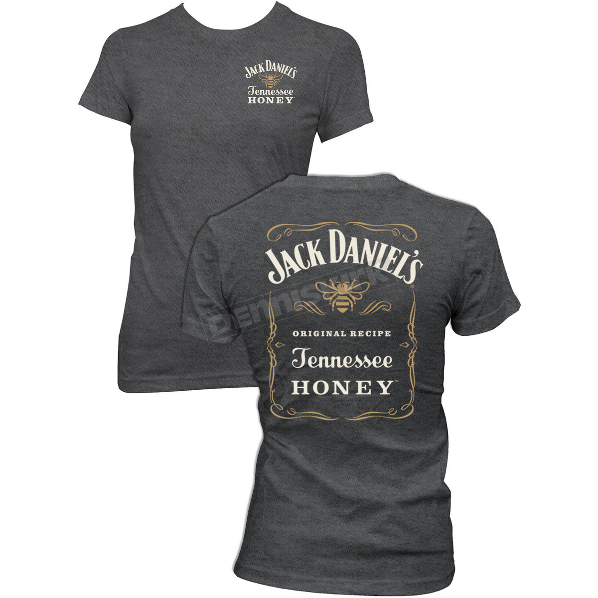 1cdbd10d Jack Daniels Women's Gray Honey T-Shirt - 15361461JD-79-S Dirt Bike ...