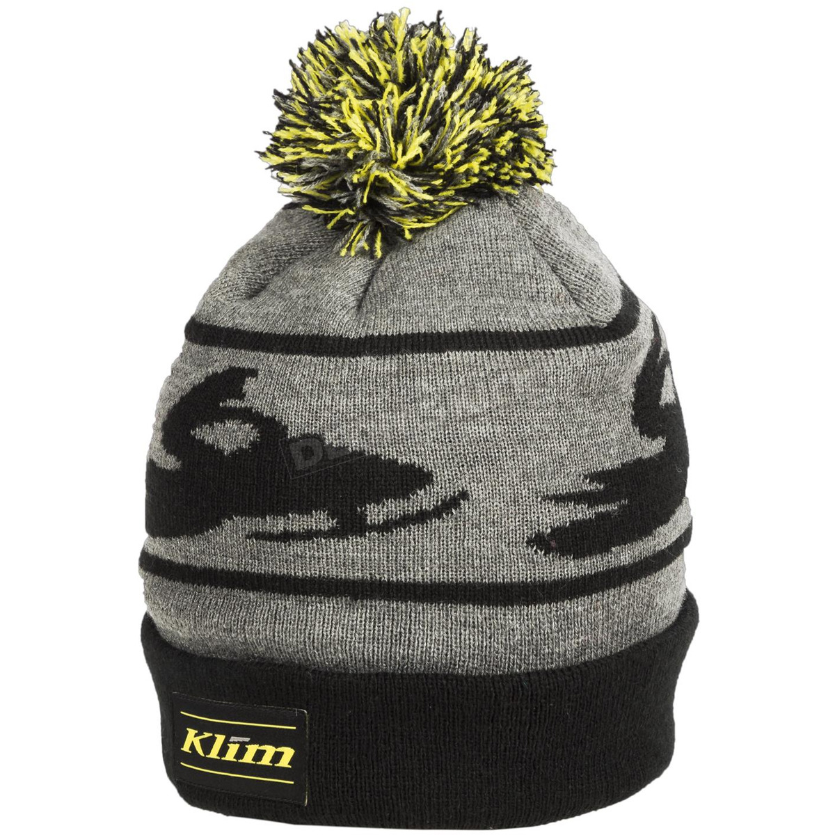 8312a4eb6d8057 Klim Black/Gray Bomber Beanie - 6028-002-000-000 Dirt Bike ...