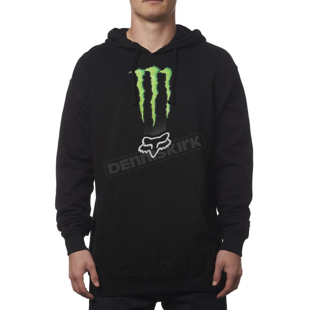 fox monster energy zebra pullover hoody 19369 001 l atv. Black Bedroom Furniture Sets. Home Design Ideas
