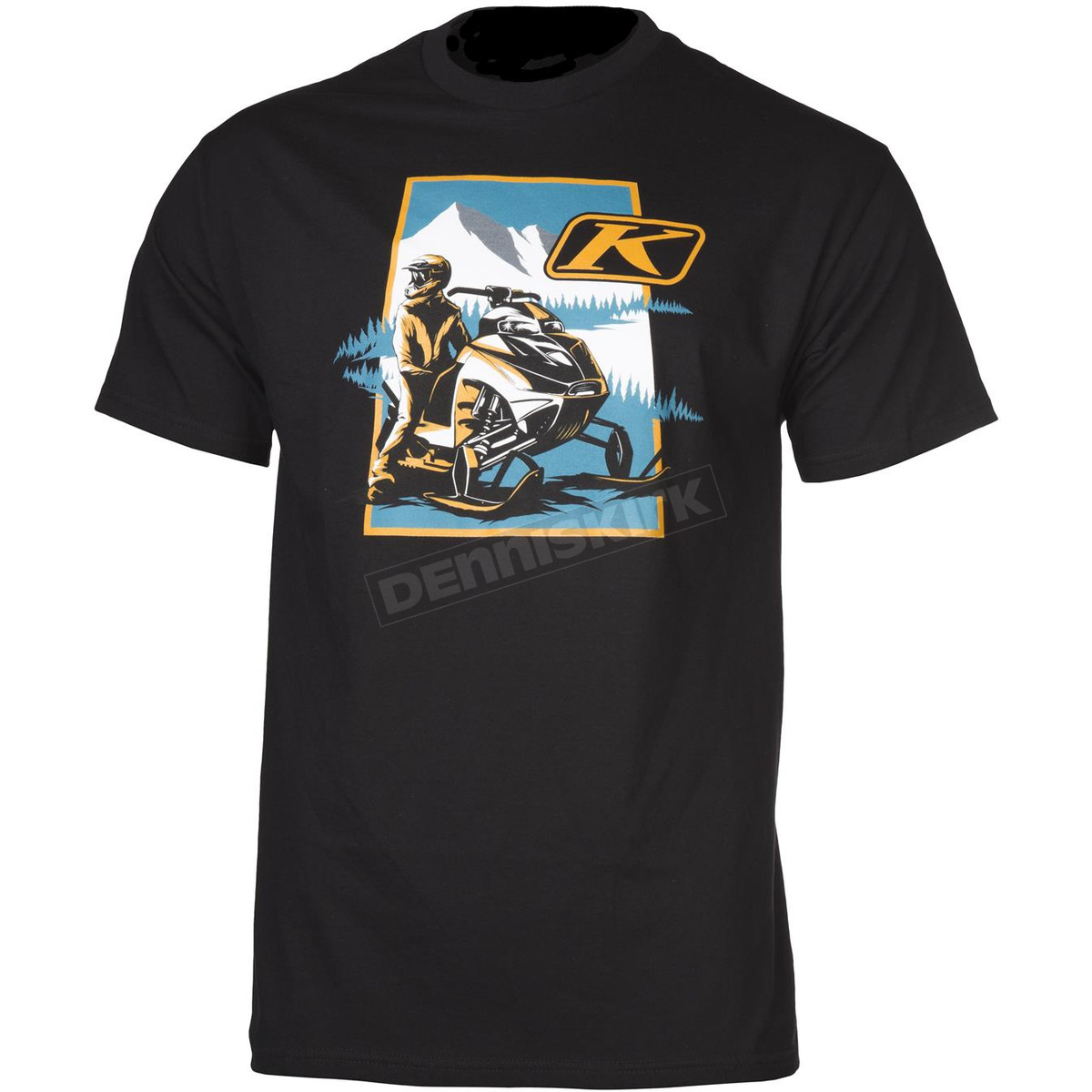 klim black motive t shirt 3512 000 150 000 snowmobile dennis kirk inc. Black Bedroom Furniture Sets. Home Design Ideas