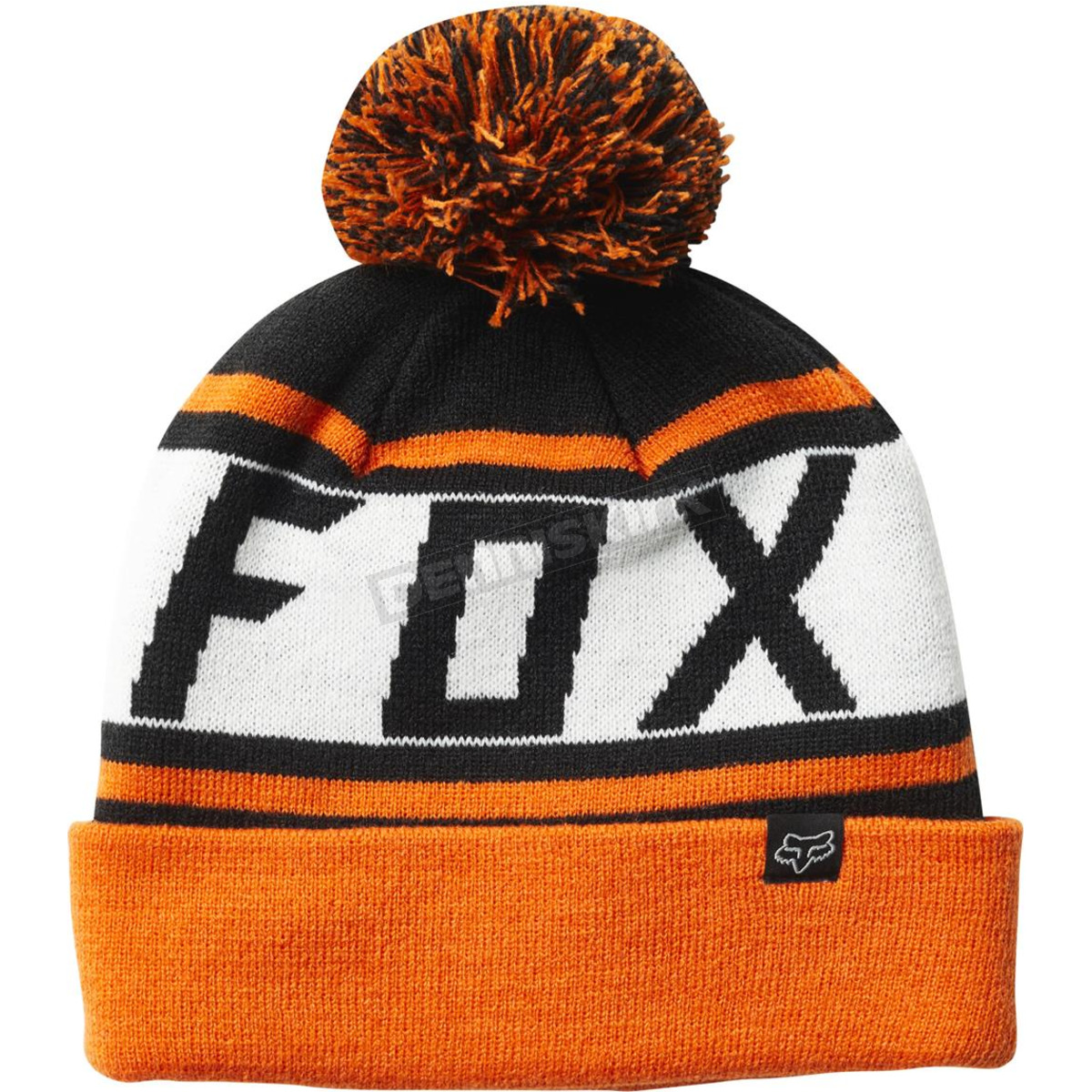 03756c1db227ff Fox Black/Orange Throwback Beanie - 22255-016-OS Dirt Bike ...