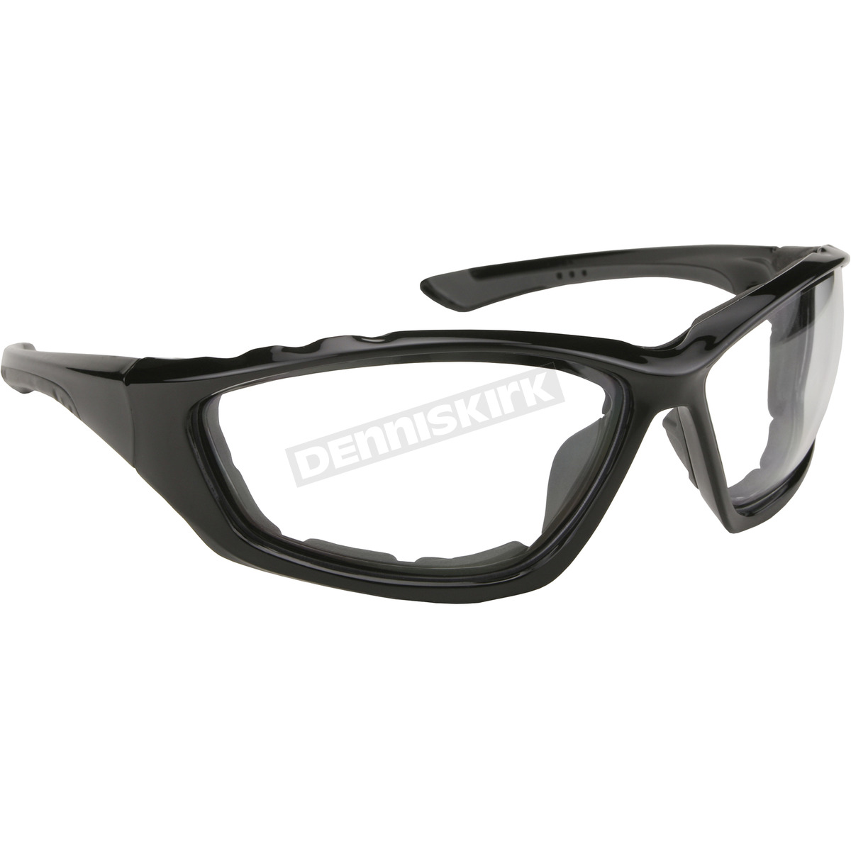 kickstart eyewear black sunglasses w clear lens 43015
