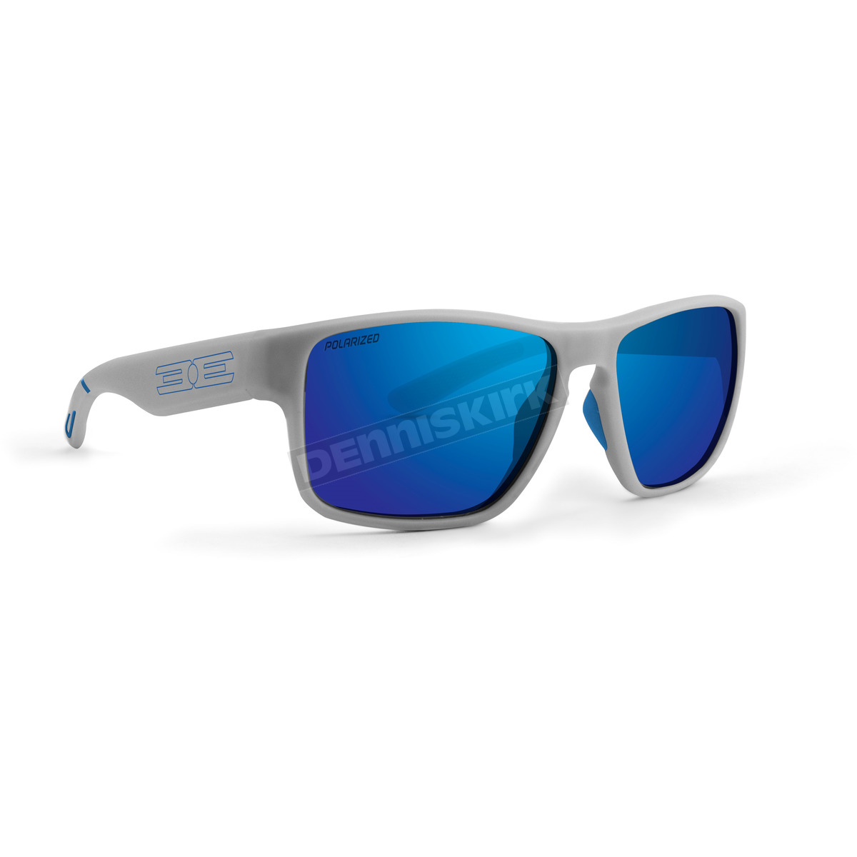 465ed3ac10c Epoch Eyewear Matte Gray Charlie Sunglasses w Blue Mirror Polarized Lens -  EE6063