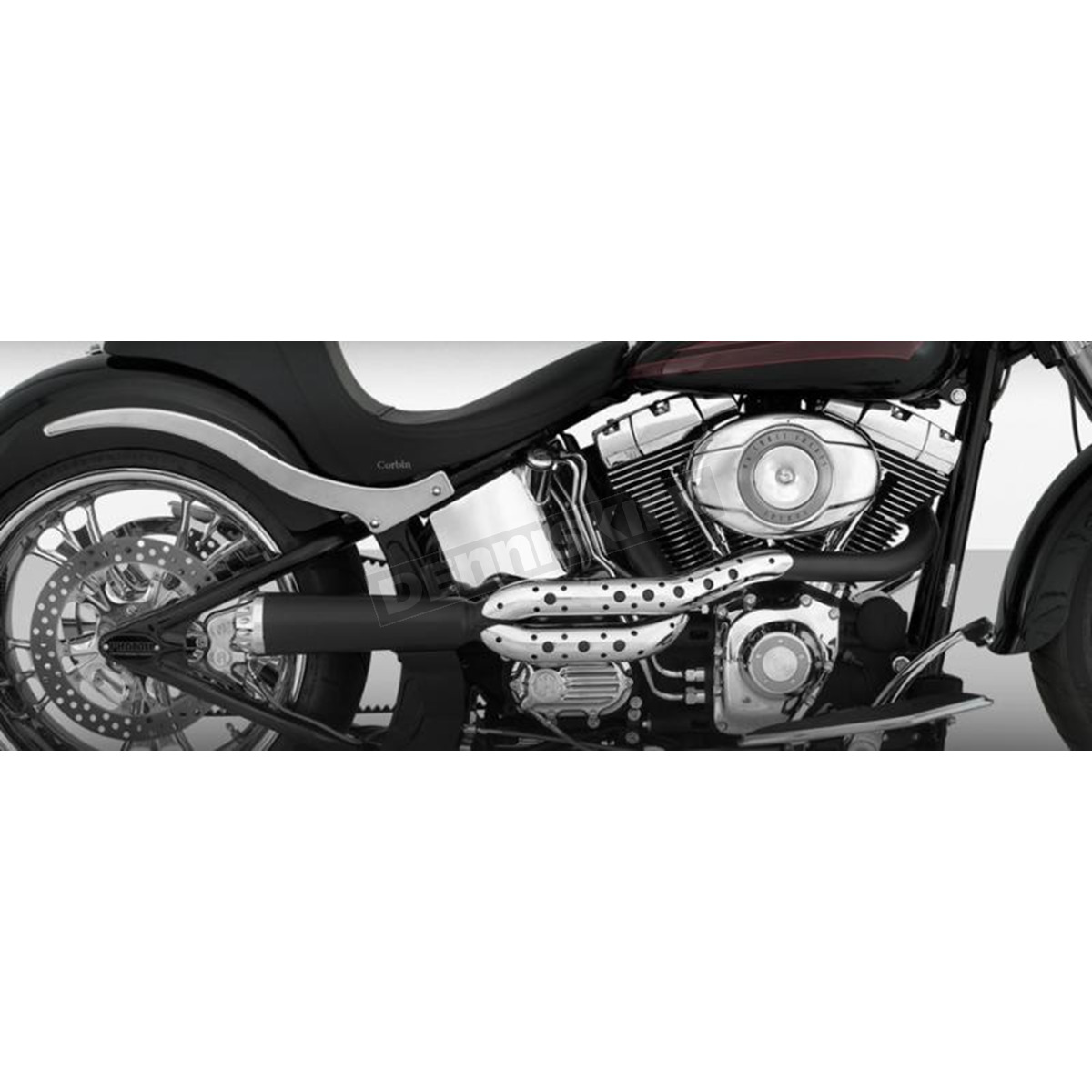 Chrome/Black Track 2-into-1 High Pipe Exhaust - 11821