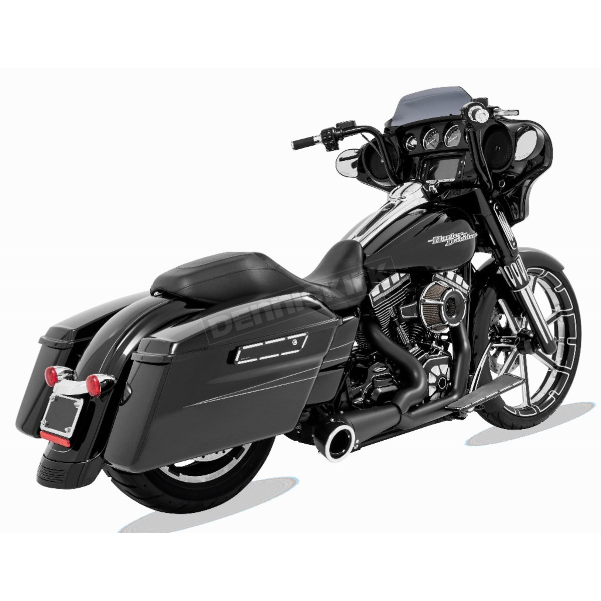 Freedom Performance Black 2 Into 1 Turnout Exhaust System Hd00838 Harley Davidson Leather Protectant