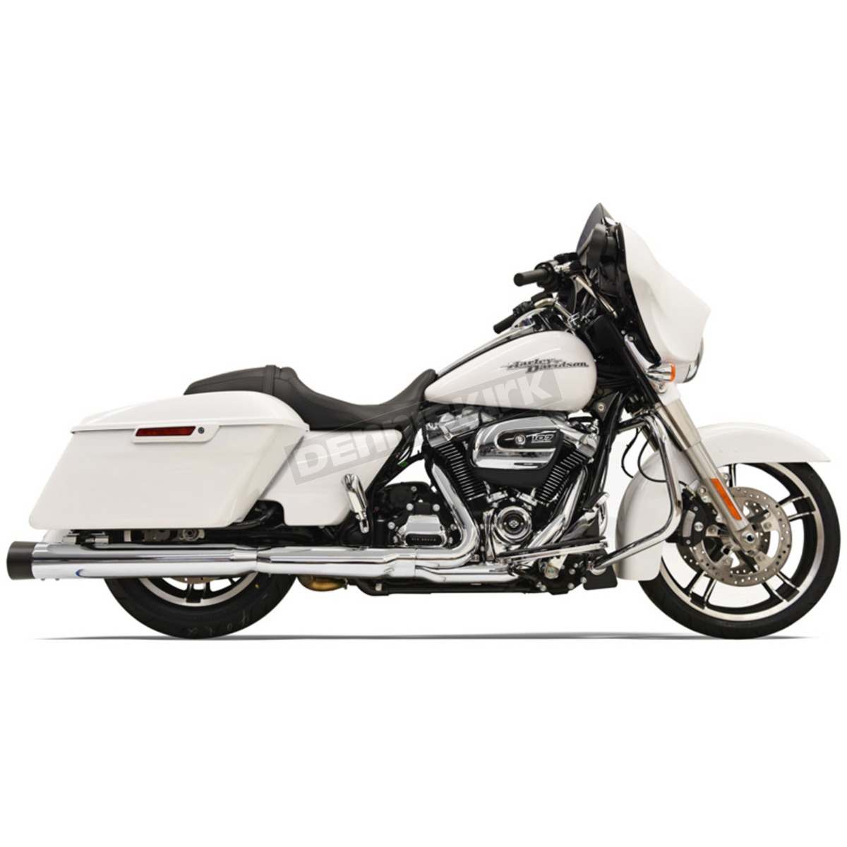 Chrome w/Black End cap 4 in  DNT Straight Can Muffler w/Acoustically Tuned  Baffle - 1F72DNT5