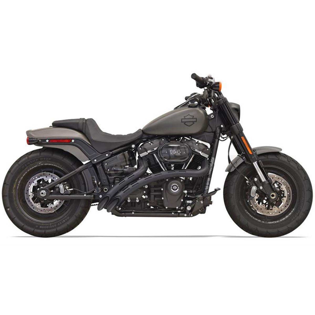 Bassani Black Sweeper Radius Exhaust W Slotted Heat Shields 1s22fb Harley Davidson Leather Protectant
