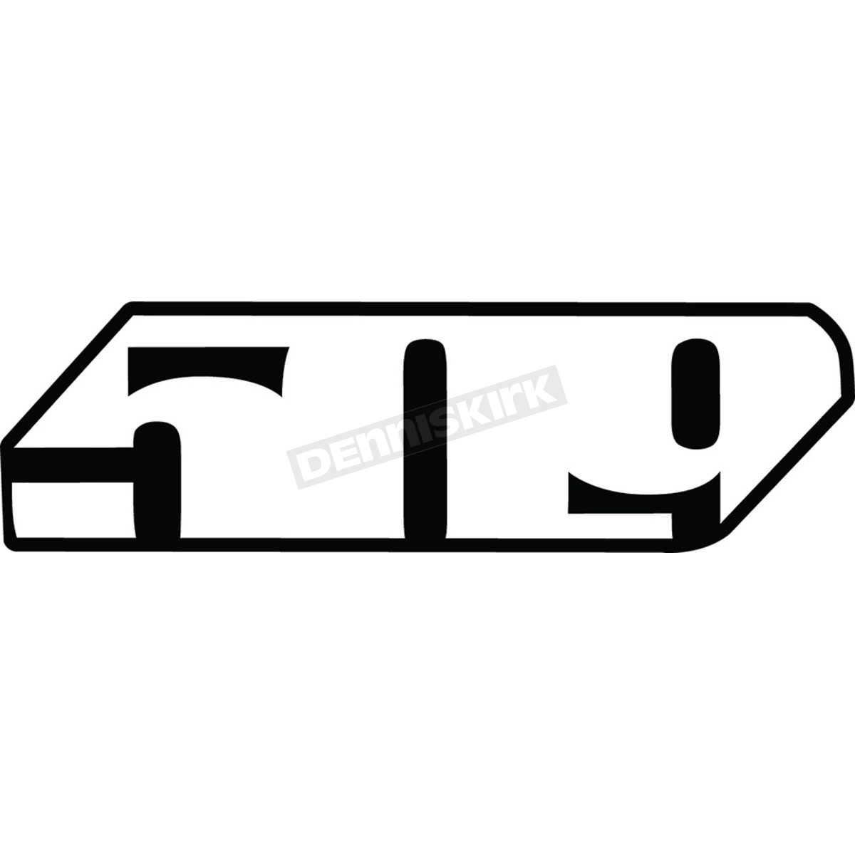 509 24 in slash logo sticker f13000100 024 002 snowmobile dennis kirk 24 in slash logo sticker f13000100 024 002