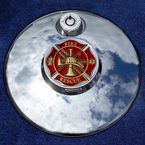 Tank 1.8  Fuel Door Coin Mount With Fire/Rescue 2-Sided Coin - JMPC-FD-FRESCUE