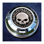 FCM 1.8  Fuel Cap Coin Mount With Harley Skull 2-Sided Coin - JMPC-FC-HSKULL