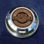 FCM 1.8  Fuel Cap Coin Mount With Harley Racer 2-Sided Coin - JMPC-FC-HRACER