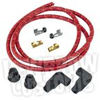 Red/Black/Yellow Cloth 8mm Suppression Core Spark Plug Wire Set - 003675