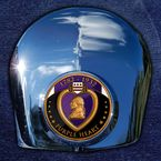 Crown 1.8  Horn Cover Attachment With Engraveable Purple Heart 2-Sided Coin - JMPC-HC-PURPLEHE