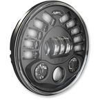 Black 7 in. Pedestal Mount LED Headlight - 553441