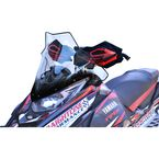 Clear w/Black 17 in. Mid Windshield - 14530