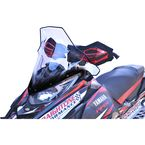 Clear w/Black 19 in. Tall Windshield - 14540