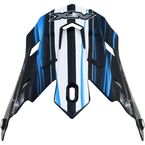 Black/Blue Multi Inferno FX-17 Visor - 0132-0803