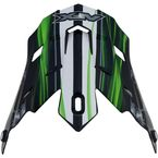 Black/Green Multi Inferno FX-17 Visor - 0132-0805