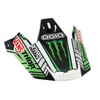 Black/Green/White Replacement Visor Kit for Verge Pro Circuit Replica Helmet - 0132-0838