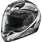 IS-16 Black/White/Silver Lash Helmet - 574-956