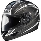 Black/White/Silver Razz CL-16 Helmet - 916-856