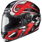 Black/Dark Silver/Red Shock CL-16 Helmet - 914-915