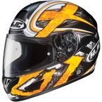 Black/Dark Silver/Yellow Shock CL-16 Helmet - 914-932