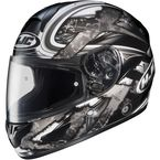 Black/Dark Silver/Silver Shock CL-16 Helmet - 914-956