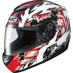 CS-R2 Red/White/Black Skarr Helmet - 212-916