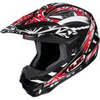 Black/Red/White Fuze CL-X6 Helmet - 730-912
