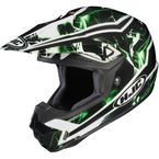 Black/Green/White Hydron CL-X6 Helmet - 728-946