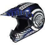 Youth Blue/Black/White Wanted CL-XY Helmet - 274-924