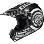 Youth Silver/Black/White Wanted CL-XY Helmet - 274-953