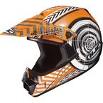 Youth Orange/Black/White Wanted CL-XY Helmet - 274-963