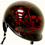 Black/Red Polo Alien Half Helmet - EXBYR-S