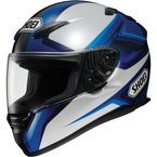 RF-1100 Chroma Black/Silver/Blue Helmet - 0113-0302-08