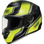 Qwest Overt Black/Hi Viz Yellow Helmet - QWEST