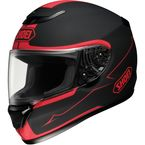 Qwest Passage Black/Red Helmet - 0115-0901-08