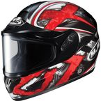 Black/Dark Silver/Red CL-16SN Shock Helmet - 915-911