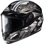 Black/Dark Silver/Silver CL-16SN Shock Helmet - 915-951