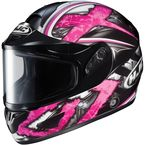 Black/Dark Silver/Pink CL-16SN Shock Helmet - 915-981