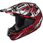 Black/Red/White CS-MX Stagger Helmet - 312-915