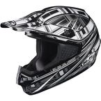 Black/Silver/White CS-MX Stagger Helmet - 312-952