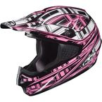 Black/Pink/White CS-MX Stagger Helmet - 312-984