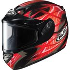 Black/Red/Silver CS-R2SN Storm Helmet - 215-915