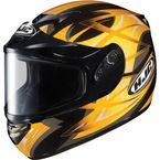 Black/Yellow/Silver CS-R2SN Storm Helmet - 215-936