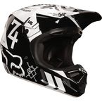 Black/White V4 Machina Helmet - 02716-001-S