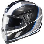 White/Black/Blue Cage RPHA-10 Helmet - 1574-926