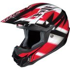Black/Red/White Spectrum CL-X6 MC-1 Helmet - 734-914